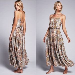 Free People Valerie Maxi Tiered Floral Dress